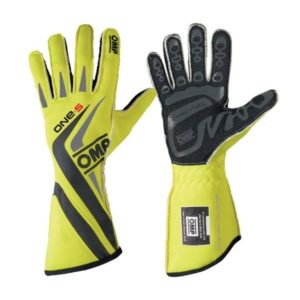 Luva Racing OMP ONE-S Amarelo Fluo