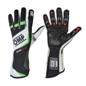 Luva Racing OMP One Evo Verde Fluo