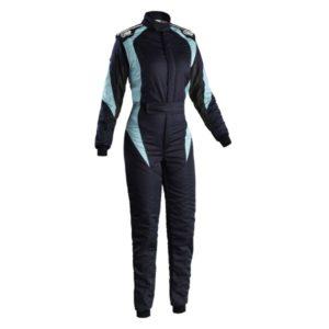 Macacão Racing OMP First Elle Azul Marinho