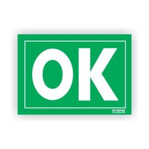 Placa Magnética Sinalizadora OK / SOS