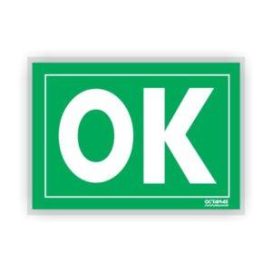 Placa Plástica Sinalizadora OK / SOS A3