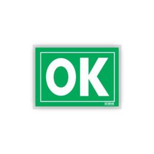 Placa Plástica Sinalizadora OK / SOS A4